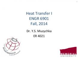 Section 1 - Introduction to Heat Transfer