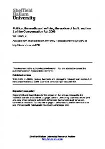section 1 of the Compensation Act 2006 - SHURA - Sheffield Hallam ...
