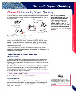 Section D: Organic Chemistry - Pearson Schools