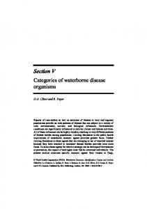 Section V Categories of waterborne disease organisms - World Health ...