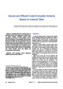 Secure and Efficient Code Encryption Scheme ... - Semantic Scholar