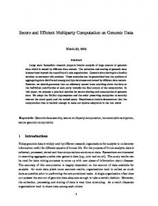 Secure and Efficient Multiparty Computation on ...
