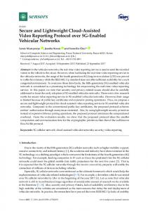 Secure and Lightweight Cloud-Assisted Video Reporting ... - MDPI