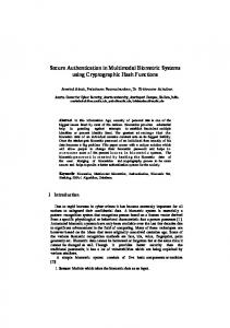 Secure Authentication in Multimodal Biometric
