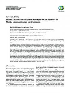 Secure Authentication System for Hybrid Cloud Service in Mobile ...