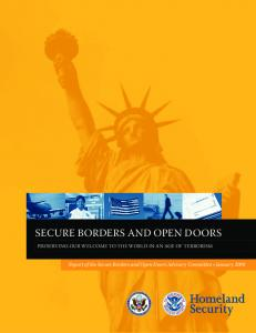 SECURE BORDERS AND OPEN DOORS