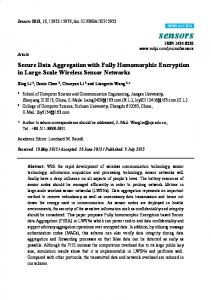 Secure Data Aggregation with Fully Homomorphic Encryption ... - MDPI