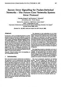 Secure Error Signalling for Packet-Switched