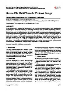 Secure File Multi Transfer Protocol Design