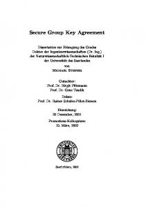 Secure Group Key Agreement