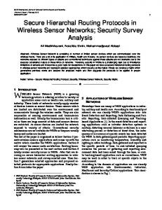 Secure Hierarchal Routing Protocols in Wireless Sensor Networks ...
