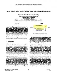 Secure Mobile Content Delivery Architecture in Hybrid ... - IEEE Xplore