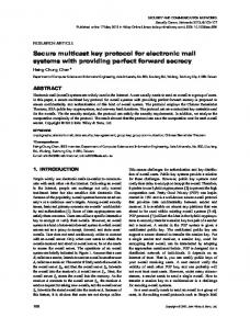 Secure multicast key protocol for electronic mail ... - Wiley Online Library
