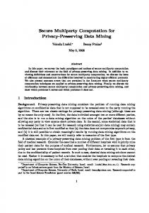 Secure Multiparty Computation for Privacy-Preserving Data Mining
