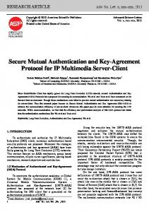 Secure Mutual Authentication and Key-Agreement ...