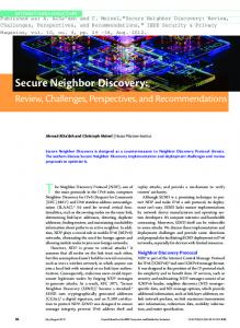 Secure Neighbor Discovery - FADA ::Birzeit University Institutional ...