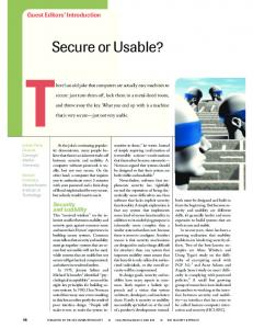 Secure or Usable? - IEEE Xplore