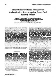 Secure Password-based Remote User Authentication Scheme against ...