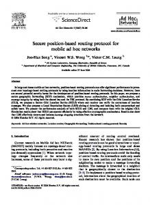 Secure position-based routing protocol for mobile ... - Semantic Scholar