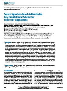 Secure Signature-Based Authenticated Key Establishment Scheme for ...