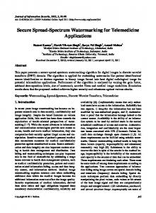 Secure Spread-Spectrum Watermarking for
