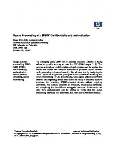 Secure Transcoding with JPSEC Confidentiality and Authentication