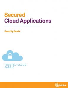 Secured Cloud Applications Security Guide - Config
