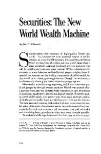 Securities: The New World Wealth Machine - the Babson College ...
