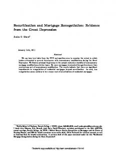Securitization and Mortgage Renegotiation: Evidence ... - SSRN papers