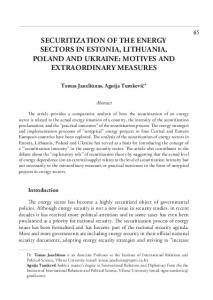 securitization of the energy sectors in estonia, lithuania, poland and ...