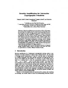 Security Amplification for Interactive Cryptographic Primitives