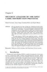Security Analysis of the MPLS Label Distribution Protocol