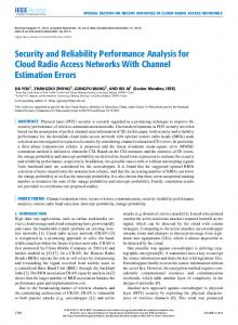Security and Reliability Performance Analysis for Cloud ... - IEEE Xplore