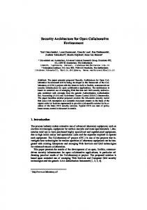 Security Architecture for Open Collaborative Environment - UAZone.org