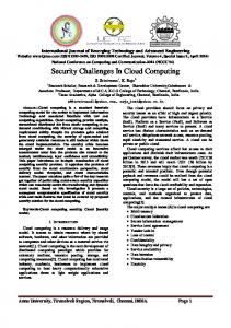 Security Challenges In Cloud Computing - Semantic Scholar