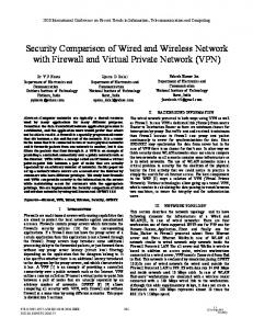 Security Comparison of Wired and Wireless Network with Firewall and ...