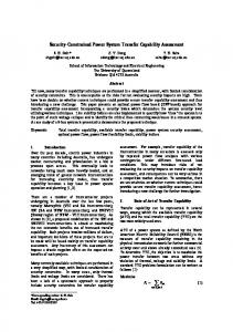 Security-Constrained Power System Transfer Capability Assessment
