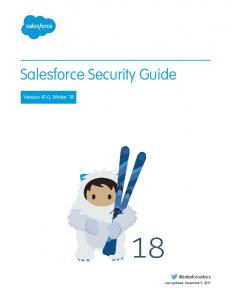 Security Implementation Guide - salesforce.com
