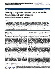Security in cognitive wireless sensor networks. Challenges and open ...