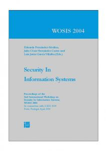 Security In Information Systems