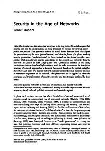 Security in the Age of Networks