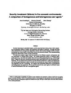 Security investment - WEIS 2008