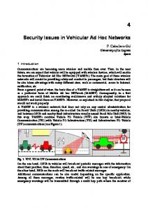 Security Issues in Vehicular Ad Hoc Networks