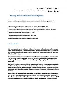 Security Metrics in Industrial Control Systems - arXiv