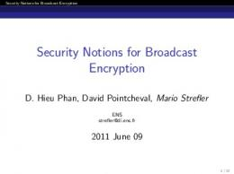 Security Notions for Broadcast Encryption - Semantic Scholar