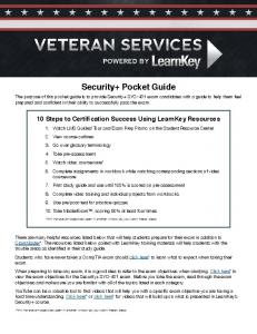 Security+ Pocket Guide