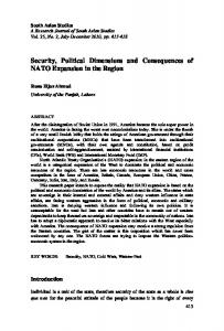 Security, Political Dimensions and Consequences of NATO ...