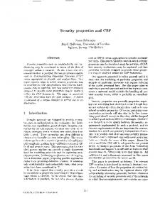 Security properties and CSP - Security and Privacy ... - Semantic Scholar