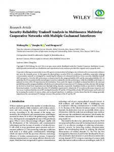 Security-Reliability Tradeoff Analysis in Multisource Multirelay