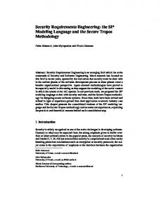 Security Requirements Engineering: the SI ... - Semantic Scholar